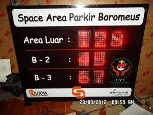 Led-Display-petunjuk parkir